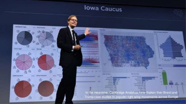 In the meantime, Cambridge Analytica have thaken their Brexit and Trump case studies to populist right wing movements acro...