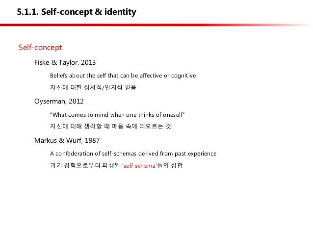self concept and self schema Abstract the centrality of the self-concept in maintaining physical and psychosocial well-being is widely recognized in nursing despite its importance, progress in the development of an empirically-supported and clinically-relevant theoretical framework has been limited by difficulties in defining and measuring the construct.