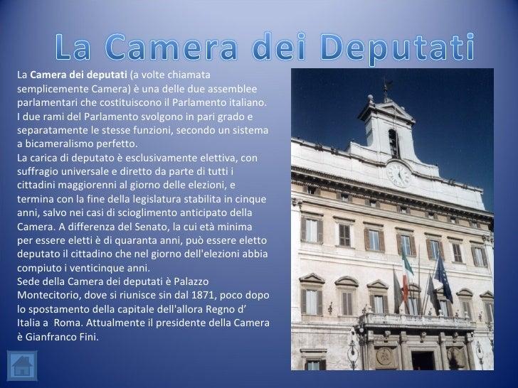 L 39 ordinamento della repubblica italiana for Camera dei deputati italiana