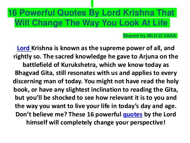 Lord Krishna Quotes Best Lord Krishna's Quotes