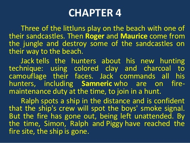 chapter 11 lord of the flies The education umbrella guide to lord of the flies chapter eleven: 'castle rock' summary and analysis this chapter summary is part of the education umbrella guide to lord of the fliesfree to download or store in our education cloud, the guide features chapter-by-chapter summary and analysis, analysis of the symbols and objects, character.