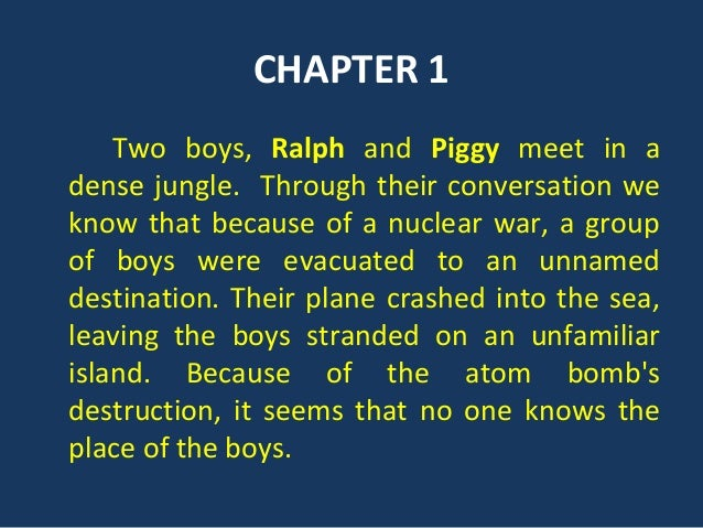 an analysis of chapter 3 of lord of the flies by william golding Lord of the flies william golding contributors:  analysis of major characters 8 ralph  chapter 3 21 chapter 4.