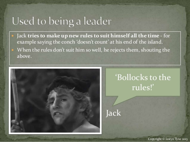 jack character notes lord of the flies