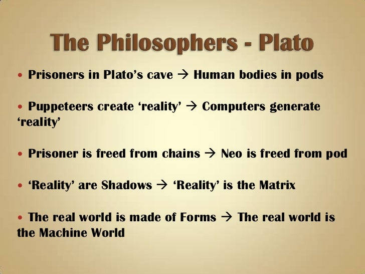 matrix versus allegory of the cave Although plato's the allegory of the cave and the matrix were created in two very different centuries, they are related in many ways within the similarities.