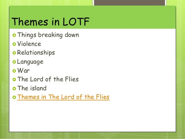 lord of the flies gcse group task themes