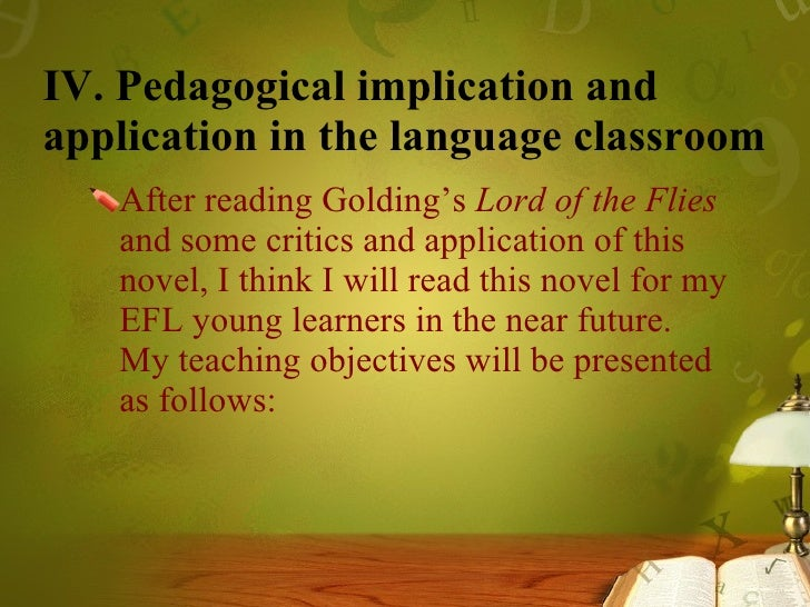 lord of the flies in the language classroom evil or human nature  21