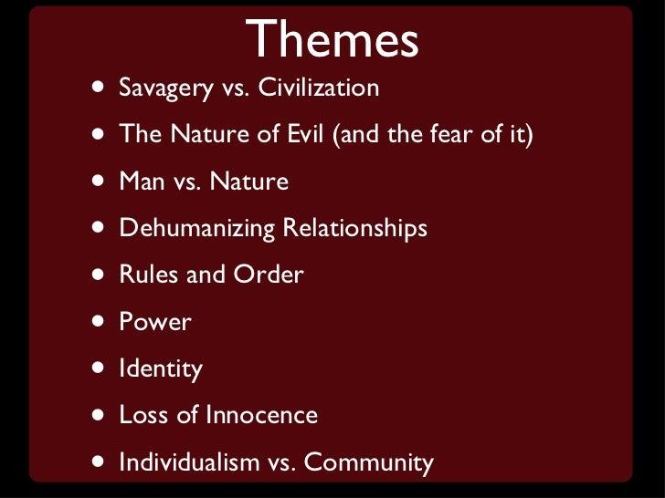 Essay on lord of the flies civilization vs savagery