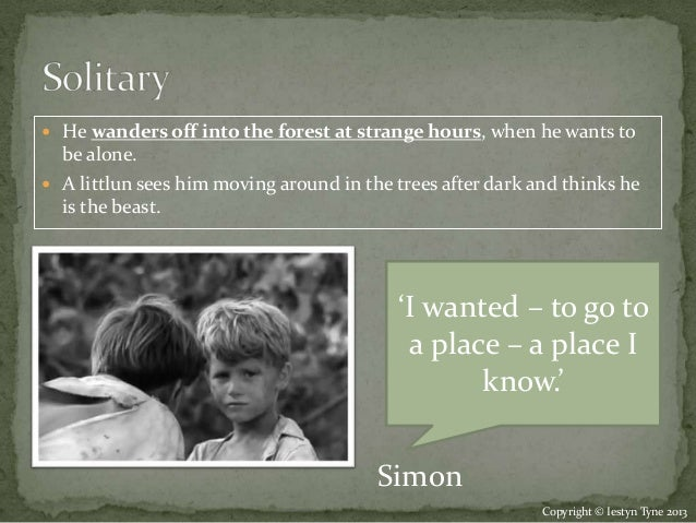 lord of the flies characterization simon Simon embodies a kind of innate, spiritual human goodness that is deeply  connected with  and he is the first to realize the problem posed by the beast and  the lord of the flies—that is, that  take the analysis of major characters quick  quiz.