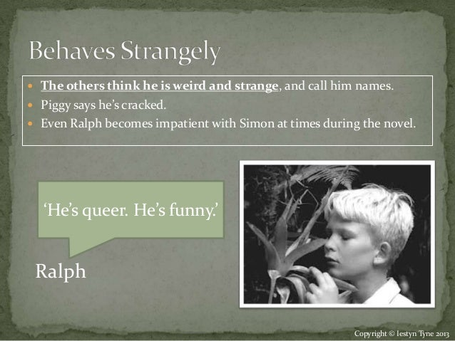 simon character notes lord of the flies