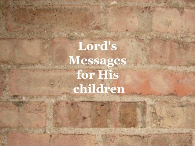 LordsMessages for Hischildren