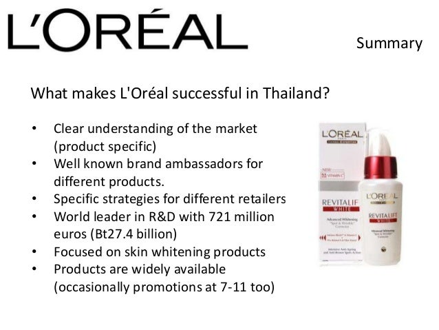 l oreal case Augmented reality (ar) is the latest technological innovation that has the potential to change the face of retail industry many companies are.