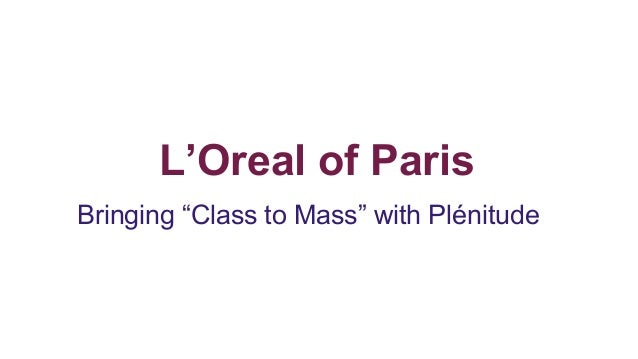 loreal case study plenitude