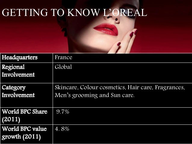 loreal international strategy Strategy print share on facebook share  designing and marketing products for the international market is done better when team members themselves come from a.