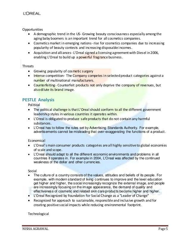 loreal business analysis L'oreal sa fundamental company report including financial, swot, competitors  including financial, swot, competitors and  business performance pestel analysis.