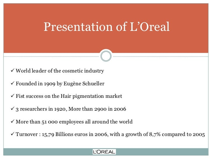 a l oreal case study management essay Business essays: l'oreal case study search through direction from owen jones and his hard-charging american management style, lð²ð'™oreal has gone through.
