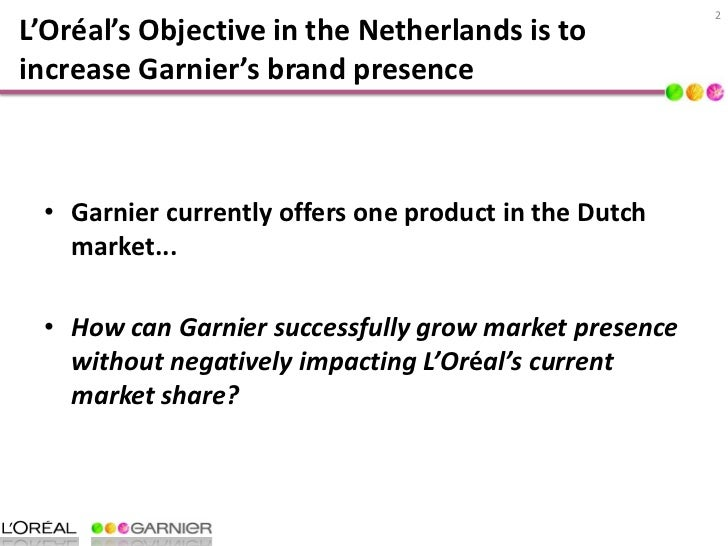 garnier marketing strategy Free essay: 10 situation analysis/current marketing mix 11 current product the garnier fructis fortifying cream shampoo colour last is one of a large.