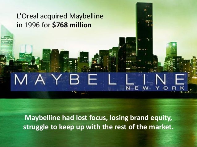 market strategy by maybelline Maybelline new york is the world's best-selling mass-market cosmetics brand best-known for its mascara - which it invented in the early 20th century - the brand also comprises a wide range of other facial cosmetics, lipsticks and nail varnishes.
