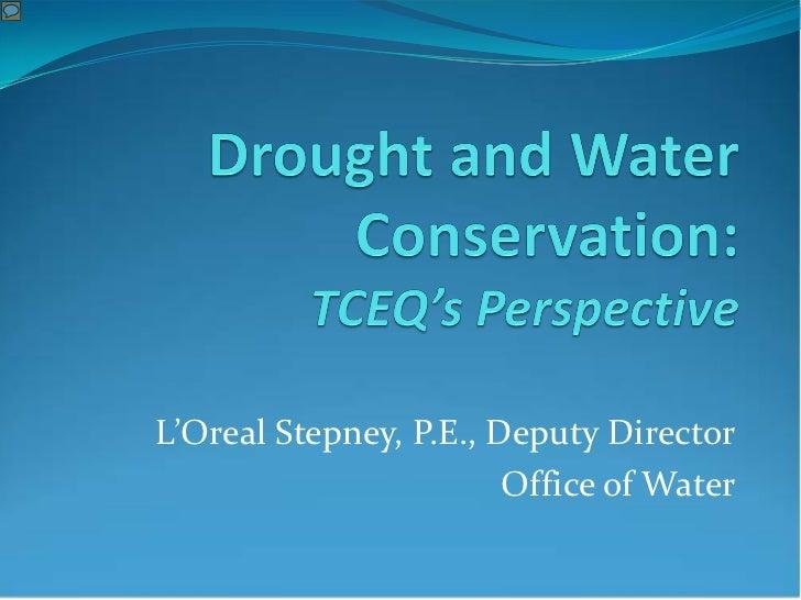 L'Oreal Stepney, P.E., Deputy Director                        Office of Water