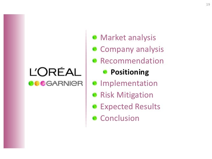 loreal strategic analysis Free essay: key issues facing l'oreal core competencies l'oréal has created several core competencies that have created value and served to gives l'oreal a.