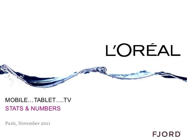 MOBILE…TABLET….TVSTATS & NUMBERSParis, November 2011