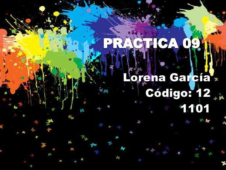Lorena García   Código: 12        1101