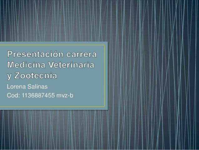 Lorena Salinas Cod: 1136887455 mvz-b
