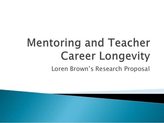 Loren Brown's Research Proposal
