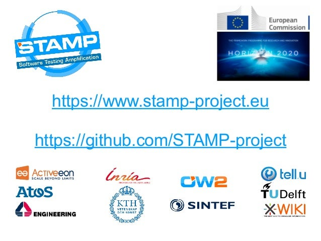 https://www.stamp-project.eu https://github.com/STAMP-project