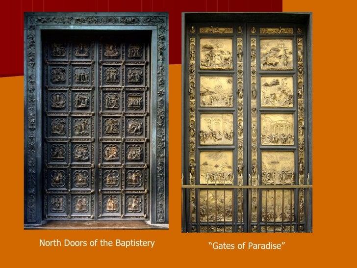 North Doors of the Baptistery u201cGates of Paradiseu201d ... & Lorenzo Ghiberti