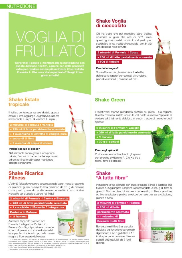 Nuove ricette Herbalife