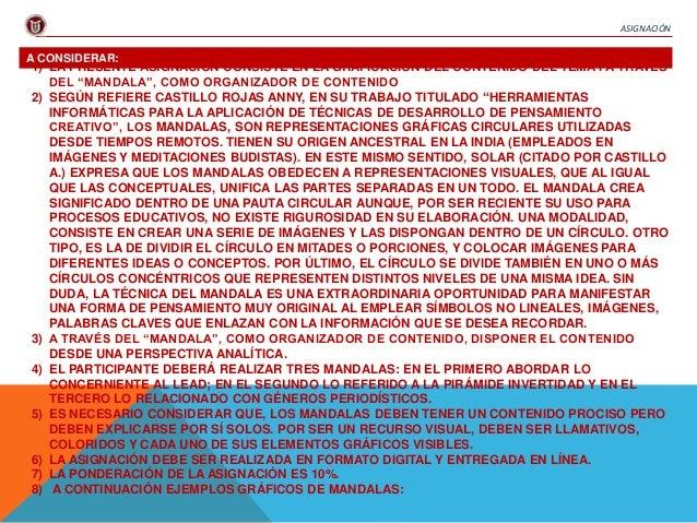 """ASIGNACIÓN  A CONSIDERAR:  1) LA PRESENTE ASIGNACIÓN CONSISTE EN LA GRAFICACIÓN DEL CONTENIDO DEL TEMA I A TRAVÉS  DEL """"MA..."""