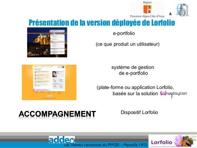 &Présentation de la version déployée de Lorfolio                                      e-portfolio                         ...
