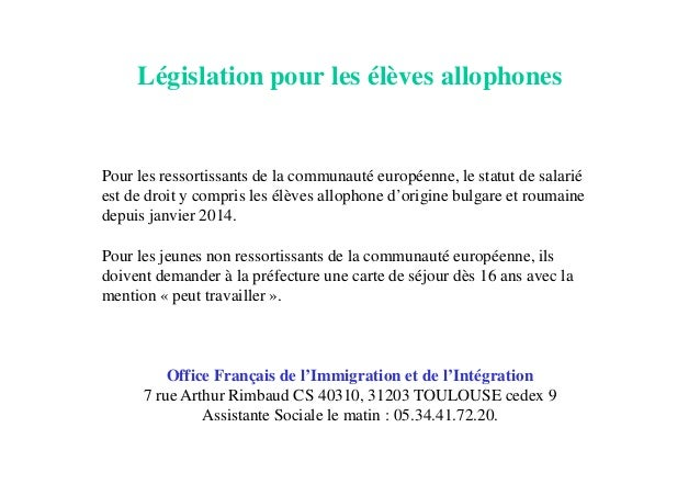 L 39 orientation apr s une upe2a - Office francais de l immigration et de l integration lille ...