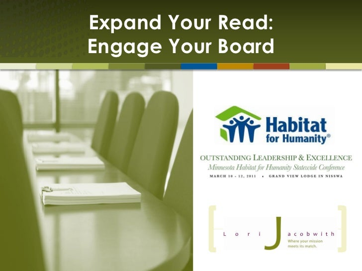 Expand Your Read:Engage Your Board