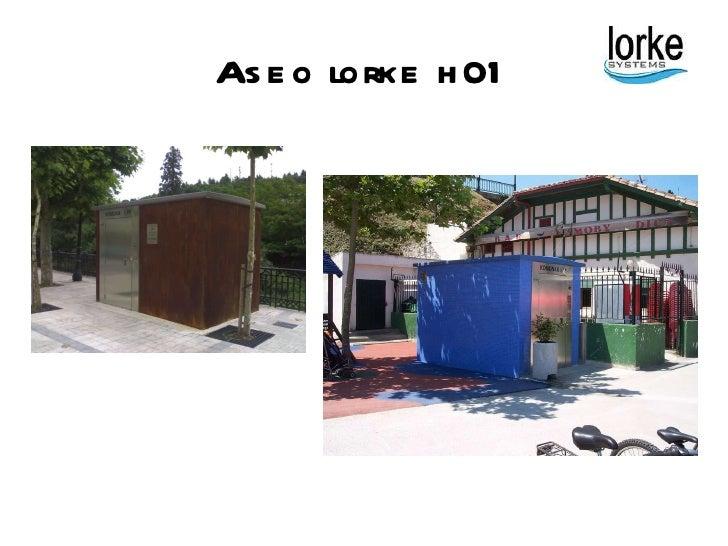 Lorke aseos p blicos autolimpiables for Dimensiones cabina inodoro