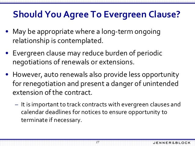 automatic renewal clause