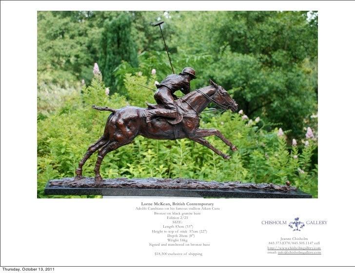Lorne McKean, British Contemporary                             Adolfo Cambiaso on his famous stallion Aiken Cura          ...