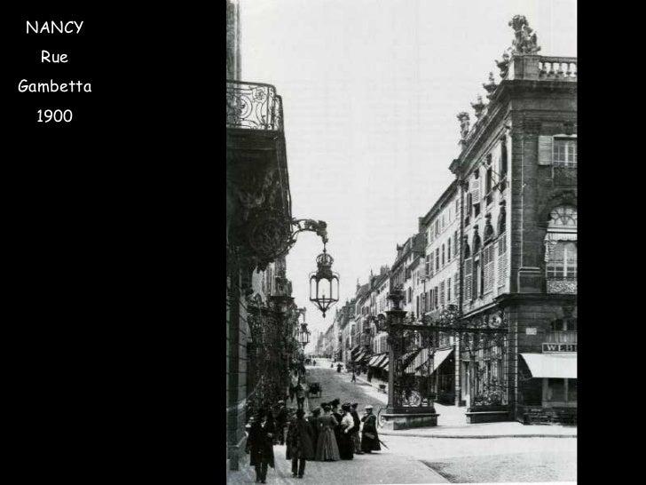 NANCY Rue Gambetta 1900