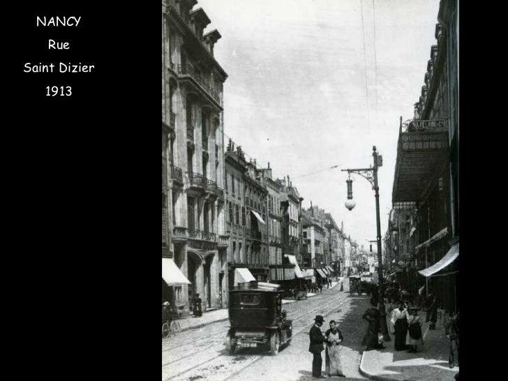 NANCY Rue Saint Dizier 1913
