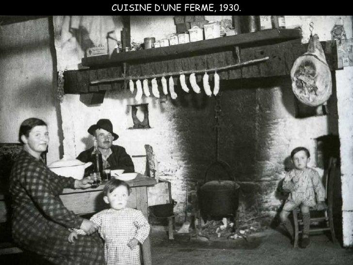 CUISINE D'UNE FERME, 1930.