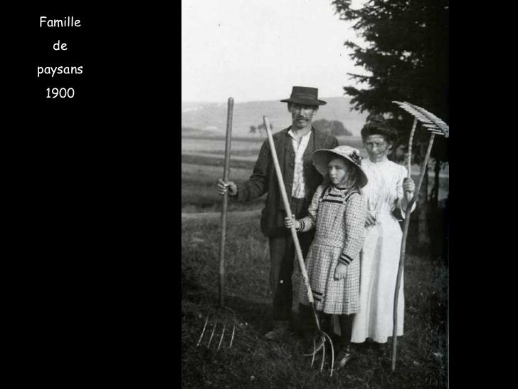 Famille de paysans 1900