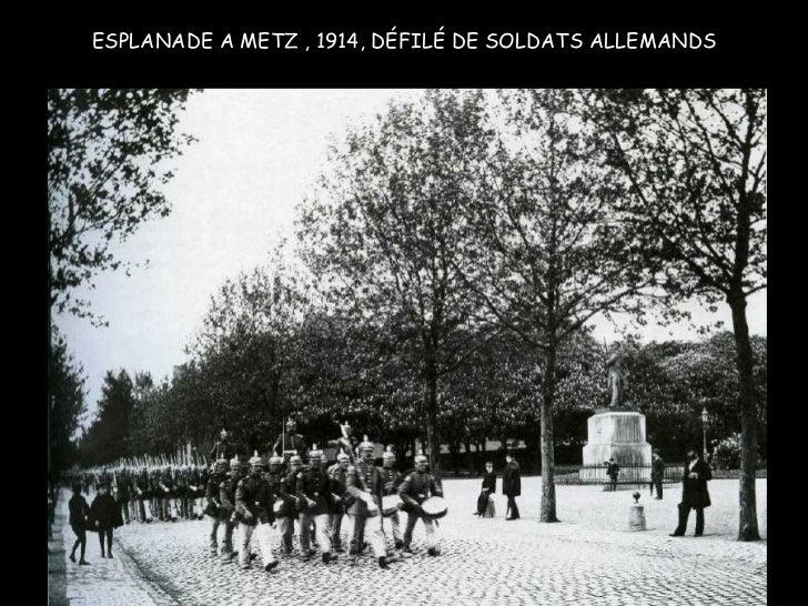 ESPLANADE A METZ , 1914, DÉFILÉ DE SOLDATS ALLEMANDS