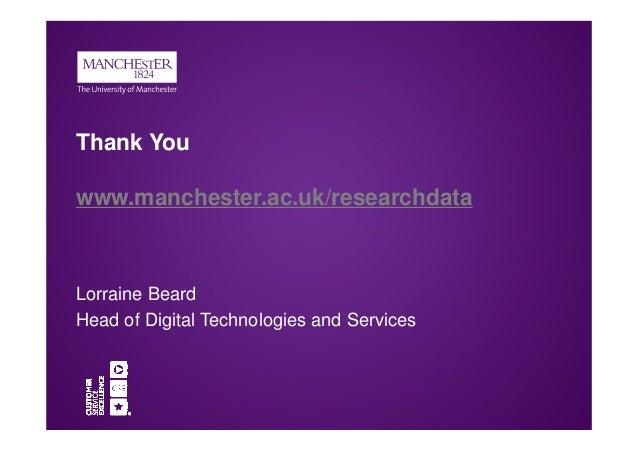 Lorraine Beard RDM at the University of Manchester