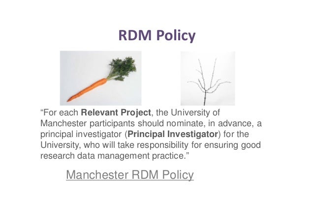 RDM Governance:  Steering Group  Operations  Group  Technical  Advisory Group  User Group  IT  Services  Library  Research...