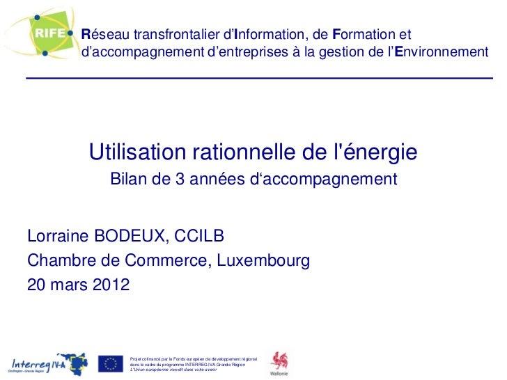 Réseau transfrontalier d'Information, de Formation et     d'accompagnement d'entreprises à la gestion de l'Environnement  ...