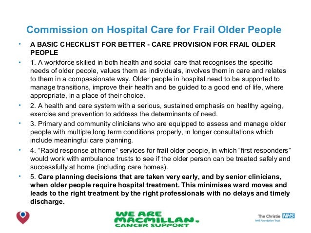 nice guidelines person centred care