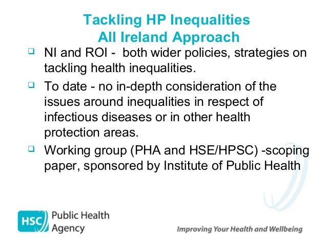 Tackling health inequalities essay