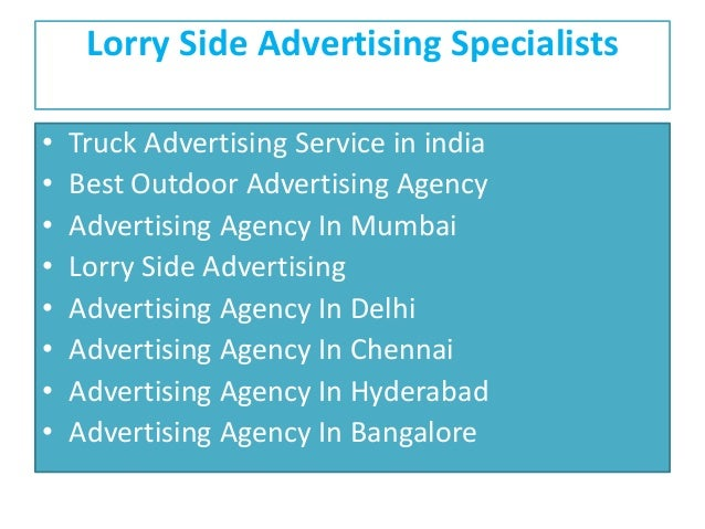 Lorry Side Advertising Specialists • Truck Advertising Service in india • Best Outdoor Advertising Agency • Advertising Ag...