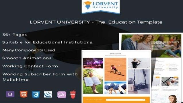 Latest Educational Responsive HTML5 Website Templates