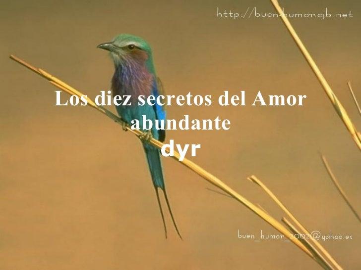 Los diez secretos del Amor abundante dyr